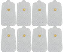 AccuMed Tens Pads Electrodes w/ High Conductivity Self-Adhesive 8-Pack XL-Size