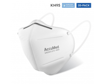 AccuMed 20-Pack KN95 Protective Face Mask (FDA Registered, GB2626-2019, Safety Face Mask, Air Filtration Anti Dust Mask, Disposable Particulate Filtering Mask (20-Count)